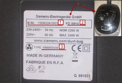 esempio etichetta aspirapolvere